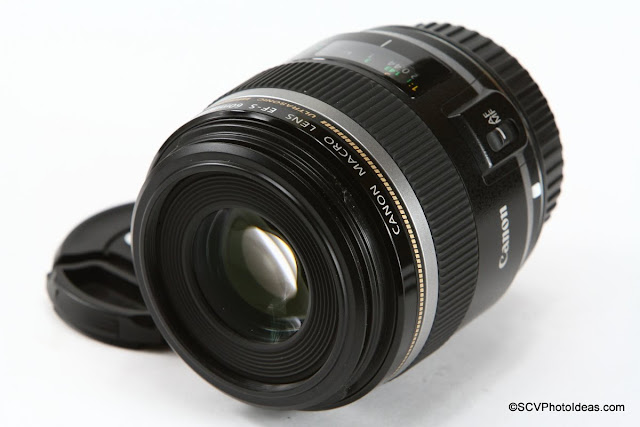 Canon EF-S 60 mm f/2.8 Macro USM front element and filter thread