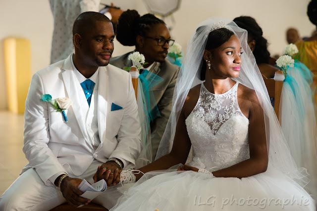 Eglise Petit-Bourg photo mariage Guadeloupe  les mariés