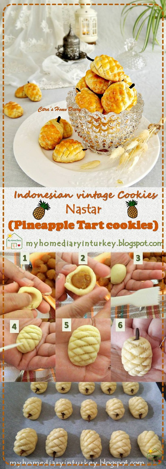 Indonesian Classic; Pineapple Tart Cookies, best recipe  / #resepkuekeringjadul Nastar | Çitra's Home Diary