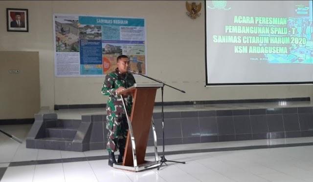 Satgas Sektor 21 Hadiri Pembangunan SPALDT di Kawasan Pusdik Armed
