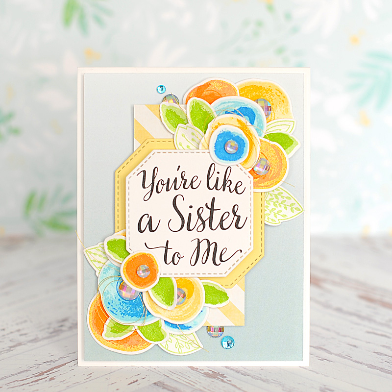 Mft Stamps Youre Like A Sister To Me Lea Lawson Creates