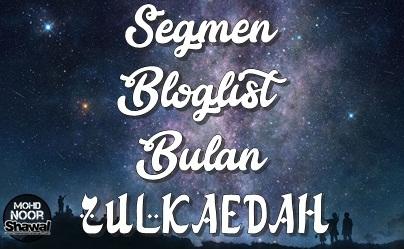 Pemenang Segmen Bloglist Bulan Zulkaedah 1438H
