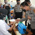Cegah Cluster Baru Kapolres Pematang Siantar Tinjau Pelaksanaan Vaksinasi
