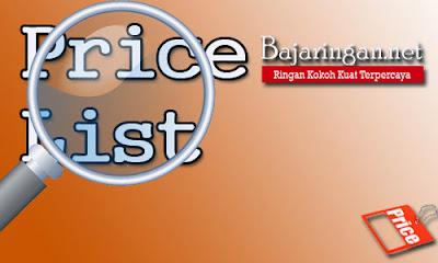 List Harga Baja Ringan,Genteng Metal dan Sekrup