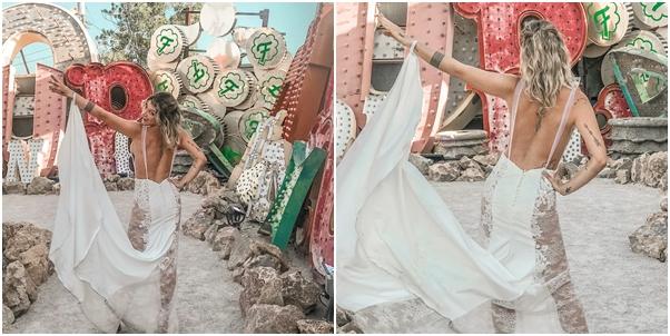 Renovação de votos em Las Vegas vestido de noiva Gabriela Pugliesi