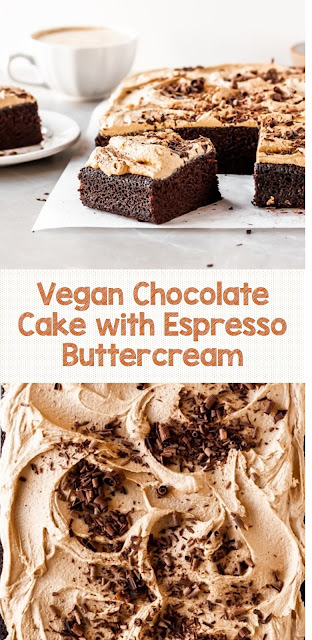 Vegan Chocolate Cake with Espresso Buttercream