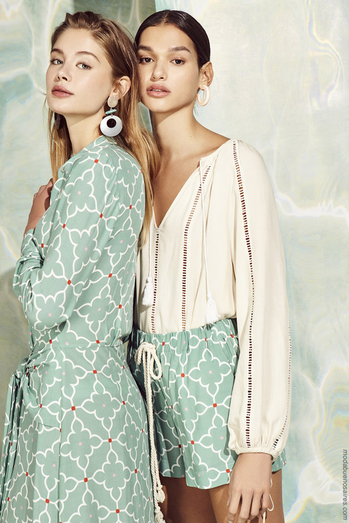 Ropa de moda mujer primavera verano 2020 estilo casual elegante. Moda 2020.