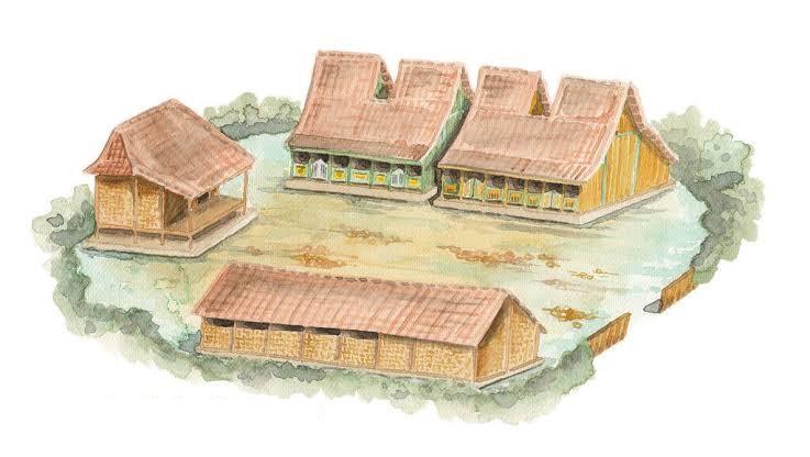 Pengertian Tanéyan Lanjhâng, Rumah Adat Madura