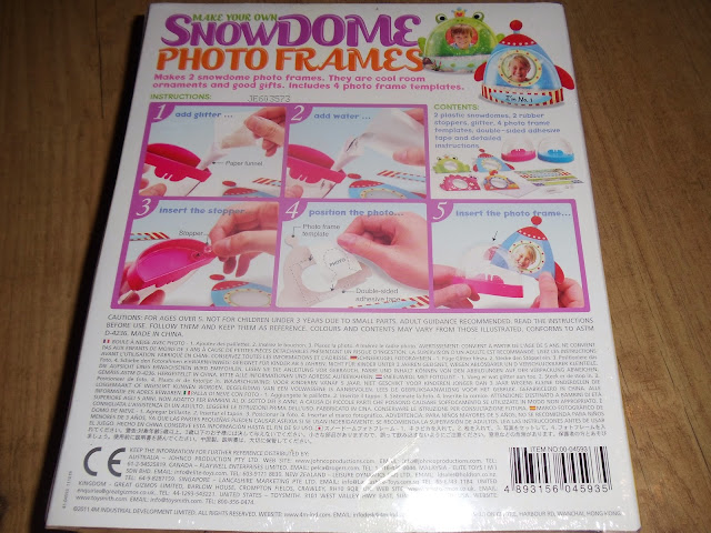 Make your own Snowdome photo frames