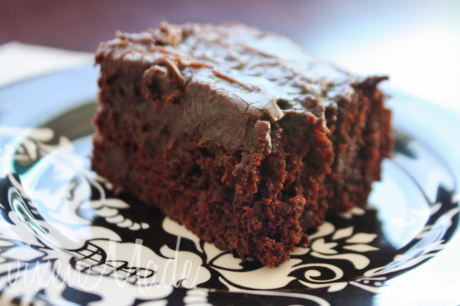 Zucchini Brownies with One Minute Chocolate Frosting