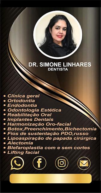 Arte de cartão digital DR. SIMONE LINHARES