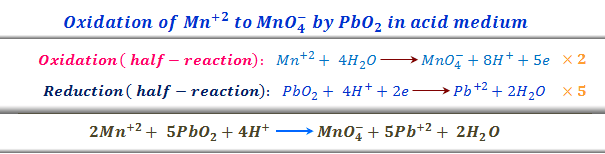 Balancing chemical equations of oxidation reduction by electron