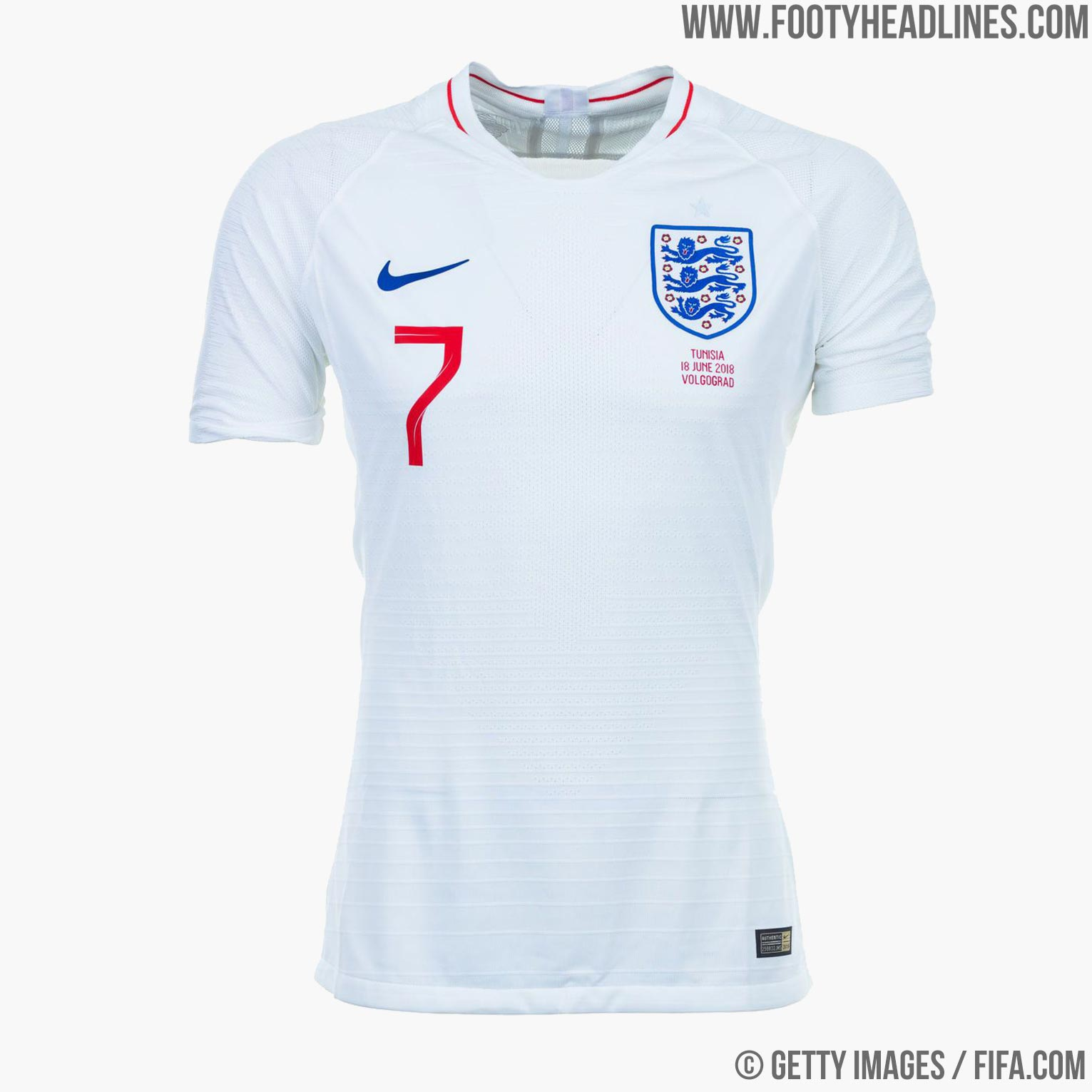 f163db79ee7 England 2018 World Cup Home Kit Buy now. Free UK shipping - worldwide  delivery