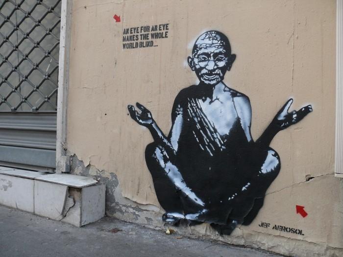 Французский граффити-художник. Jef Aerosol