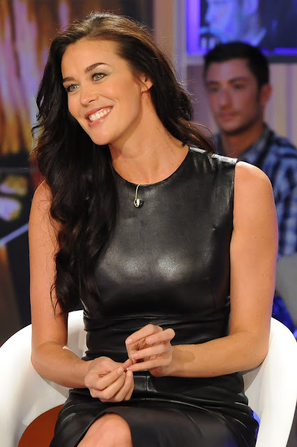 Leather Leather Leather Blog Megan Gale Leather Dress Uhq