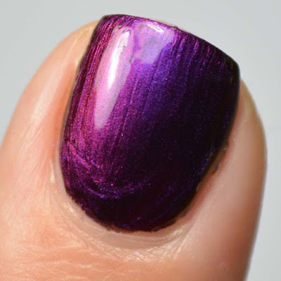 purple to red multichrome nail polish swatch