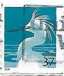 Selo de 2004 Garça branca Pequena