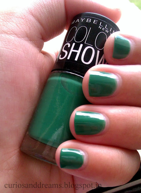 Maybelline Color Show Tenacious Teal review, Maybelline Color Show
