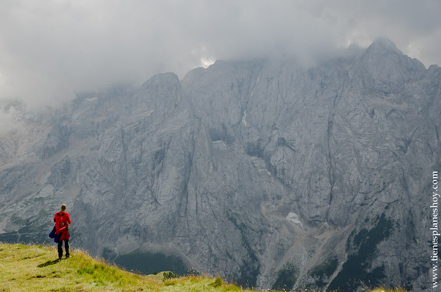 Vista de la Marmolada desde Passo di Pordoi Italia Dolomitas