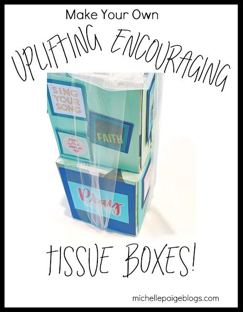 Make Your Own Tissue Boxes @michellepaigeblogs.com