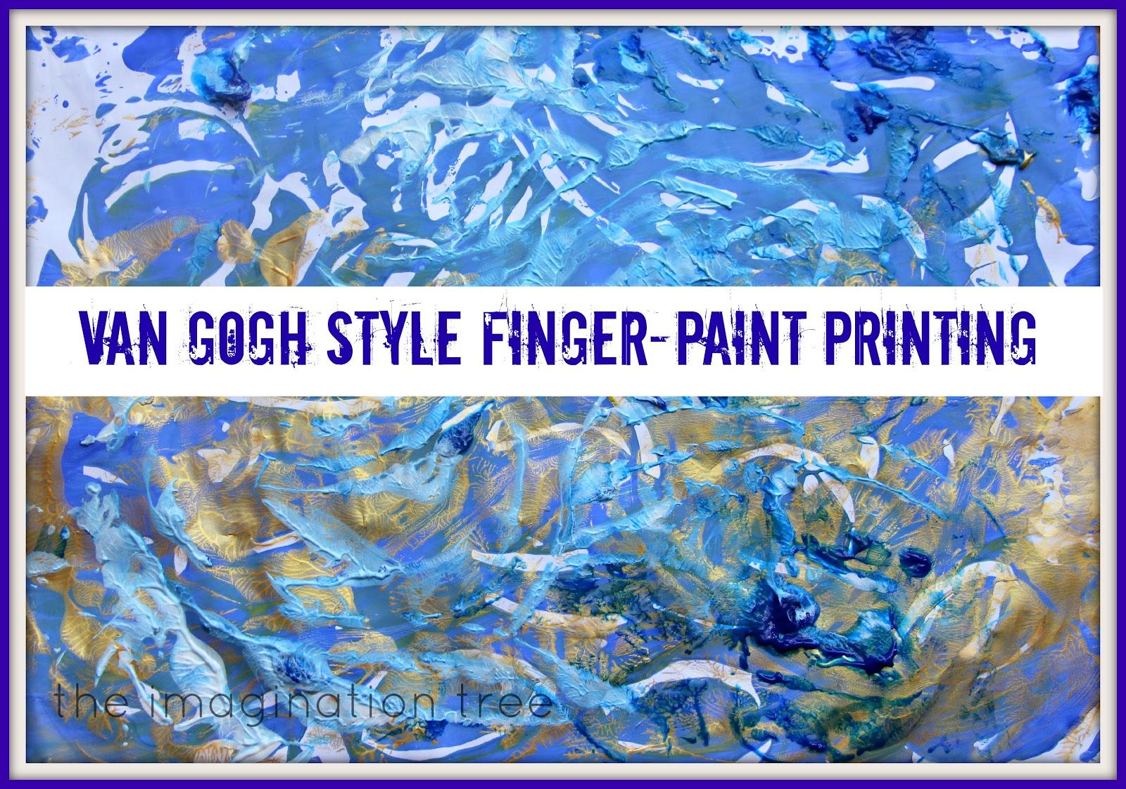 Van Gogh Style Finger Paint Printing