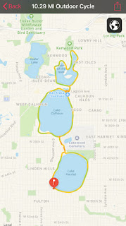 Map of skating route around 3 lakes