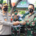 Kapolres Metro Bekasi Kota Berikan  Ucapkan HUT TNI  ke-76 Untuk Semua Jajaran Kodim