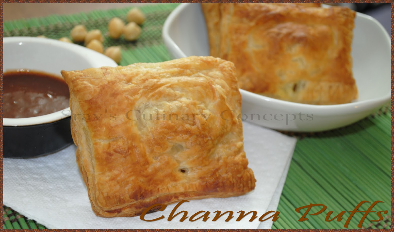 Chickpeas puff pastry