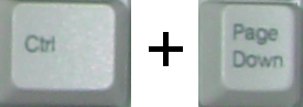 Control + Page Down keys