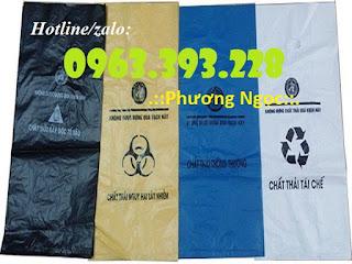 Túi đựng rác thải y tế, bao gom rác thải y tế, túi rác y tế tự hủy