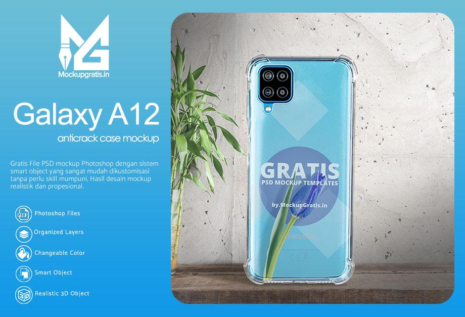 Mockup Case Anticrack Samsung Galaxy A12