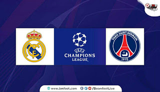 لعبة باريس سان جيرمان ضد ريال مدريد مباشر