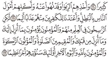 Tafsir Surat An-Nisa Ayat 161, 162, 163, 164, 165