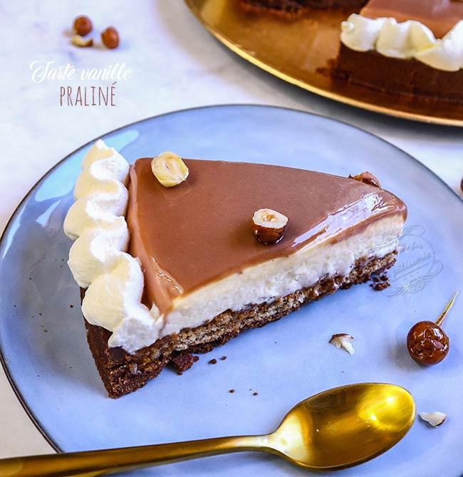 tarte entremets vanille praliné
