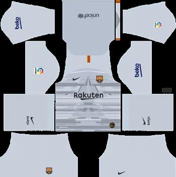 Download Kit DLS Barcelona GoalKeeper Away 2019 - 2020