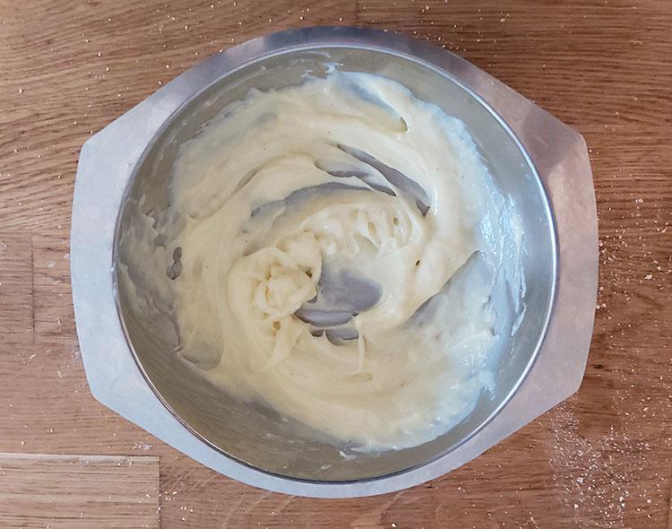 Crème pâtissière lissée