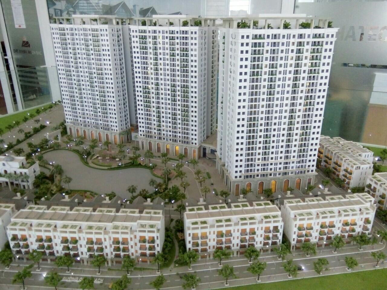 Tiến độ xây dựng thực tế chung cư Hateco Apollo Xuân Phương tháng 5 năm 2018