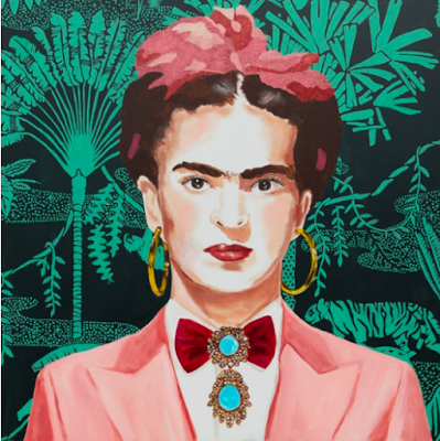 Frida in a Pink Power Suit by Ashley Longshore