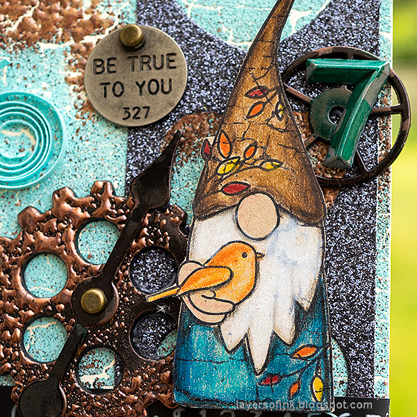 Layers of ink - Steampunk Gnome Tag Tutorial by Anna-Karin Evaldsson.