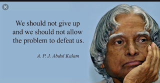 """We should not give up and we should not allow the problem to defeat us."""