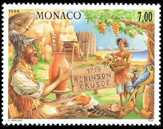 Monaco 1994 - Publication of Robinson Crusoe by Daniel Defoe