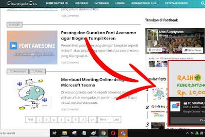 Cara Menghilangkan Iklan Pop Up en.savefrom.net di Google Chrome