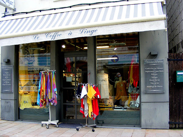 Household linen shop, Loches, Indre et Loire, France. Photo by Loire Valley Time Travel.
