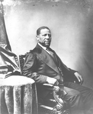 Black and White image from Library of Congress of Hiram Rhodes Revels