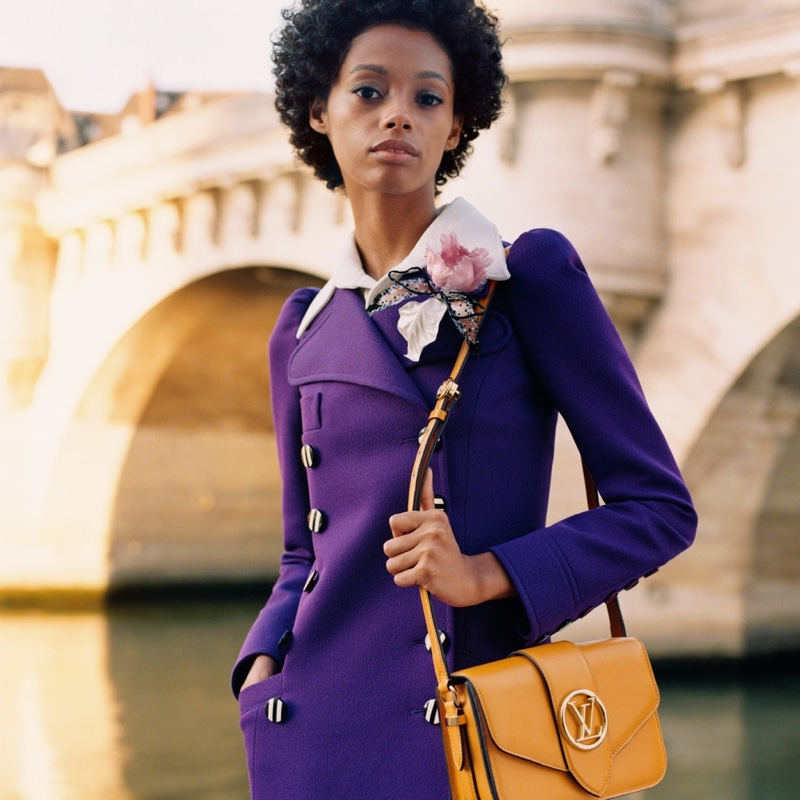 Londone Myers appears in Louis Vuitton LV Pont 9 handbag campaign.