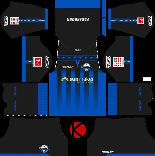 SC Paderborn 07 2019/2020 Kit - Dream League Soccer Kits