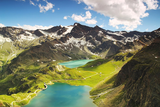 Agnel Lake Ceresole Reale Mountains Italy World