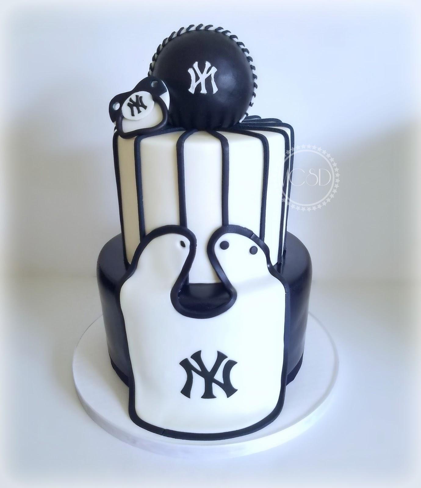 New York Yankees Baby Shower Cake