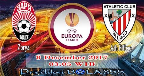 Prediksi Bola855 Zorya Luhansk vs Athletic Bilbao 8 Desember 2017