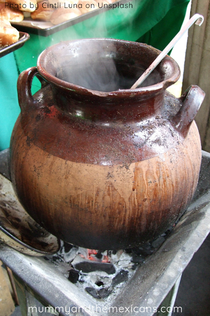 Breakfasts On The Go In Mexico - An Earthenware Pot Of Cafe De Olla On A Traditional Stove